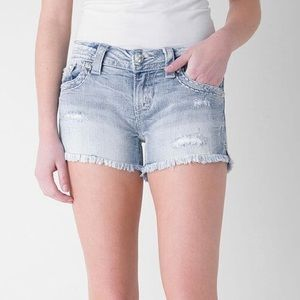 Miss Me Frayed Stretch Shorts 27 NWOT
